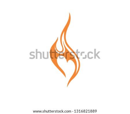 Fire Love Logo #1316821889
