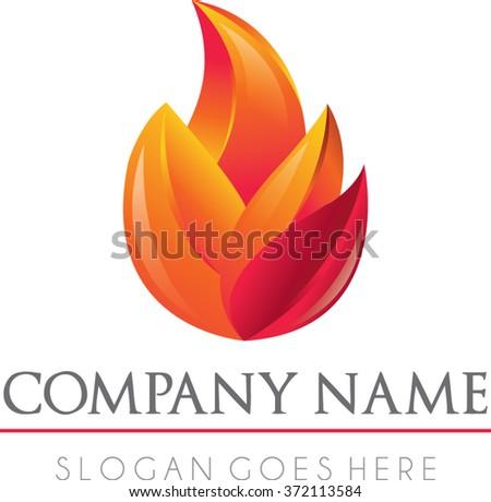 fire modern logo vector   flame