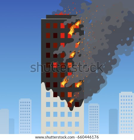 fire of the high rise building