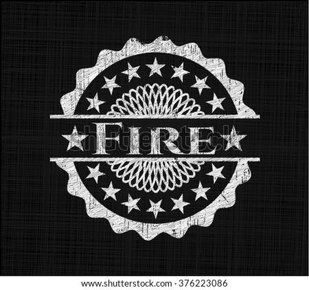 Fire on blackboard