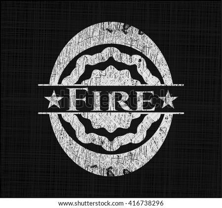 Fire on chalkboard