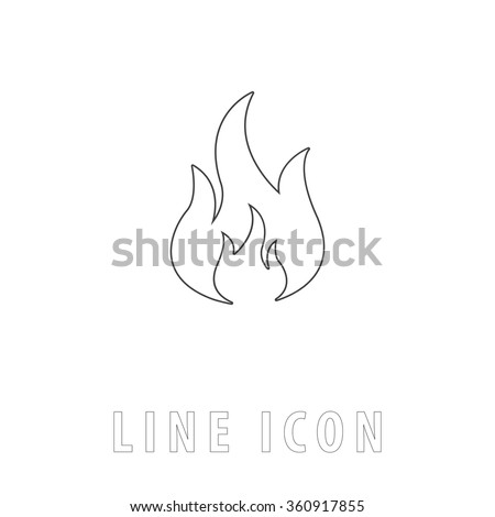 fire outline simple vector icon