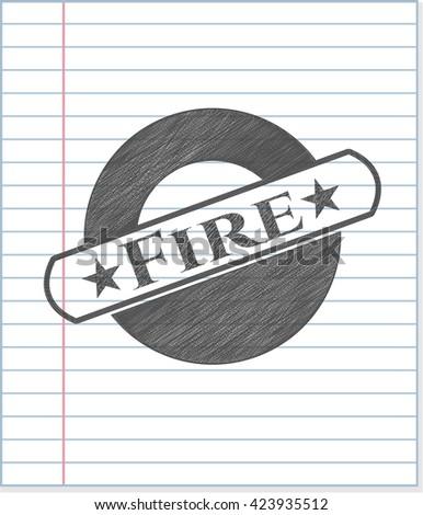 Fire pencil emblem