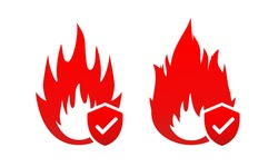 Fire protection icon symbol.  Fire security concept. Illustration vector