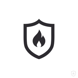 Fire protection. Vector fire shield. Vector shield icon. Security vector icon. Protection icon. Shield vector icon. Flame sign. Alert sign.