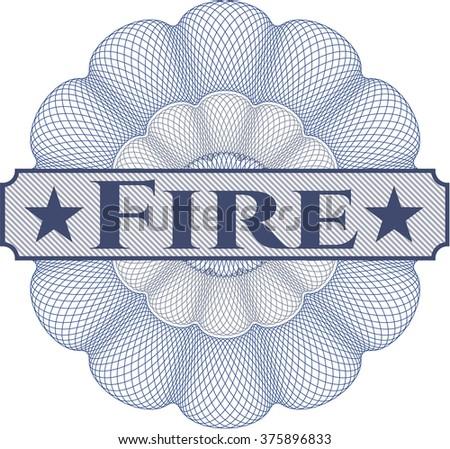 Fire rosette (money style emblem)