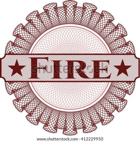 Fire rosette or money style emblem