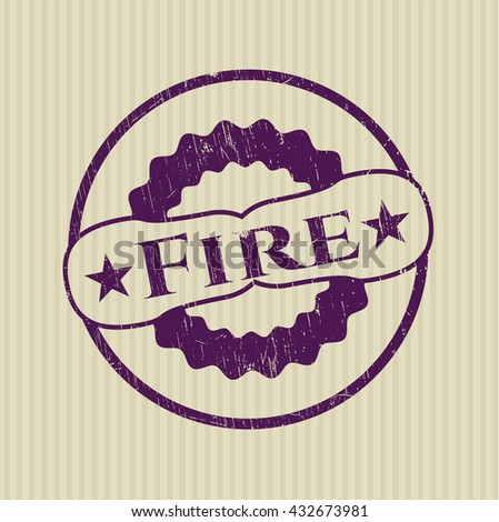 Fire rubber grunge texture seal