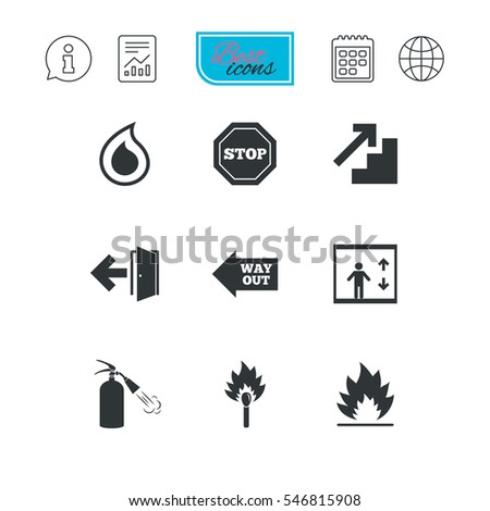 fire safety  emergency icons