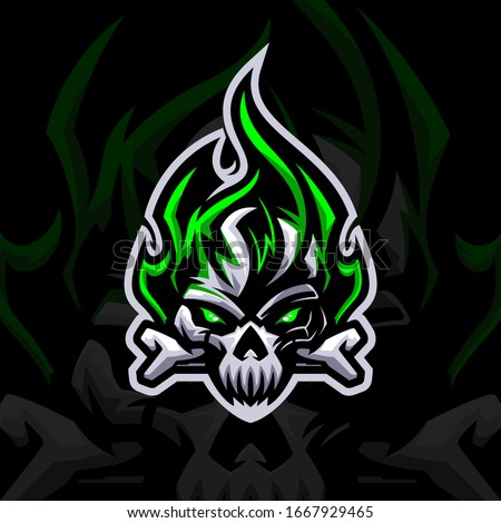 fire skull with bone esport