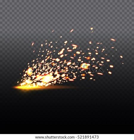 fire sparks of metal welding