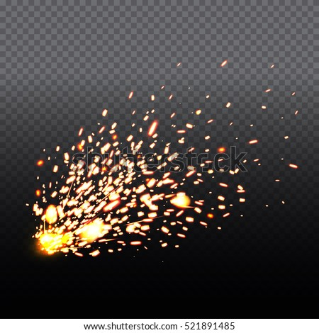 Shutterstock Fire sparks of metal welding isolated on transparent background.  During iron cutting. Vector illustration.