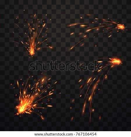 Fire sparks set