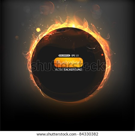 fire vector frame