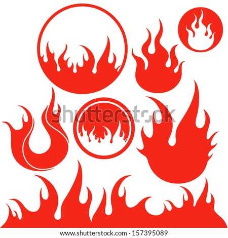 Fire. Vector illustration