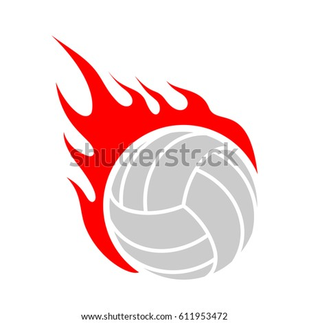 fire volleyball flame ball
