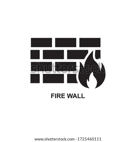 FIRE WALL ICON , WALL ICON Stock photo ©