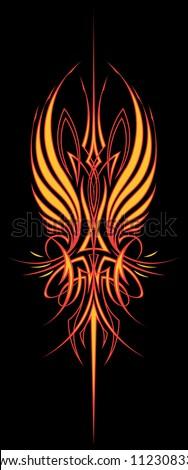 fire wing pinstripe  vertical