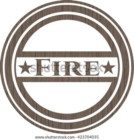 Fire wood emblem. Retro