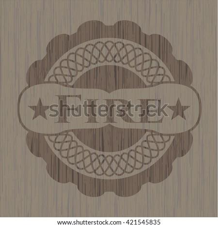 Fire wooden emblem