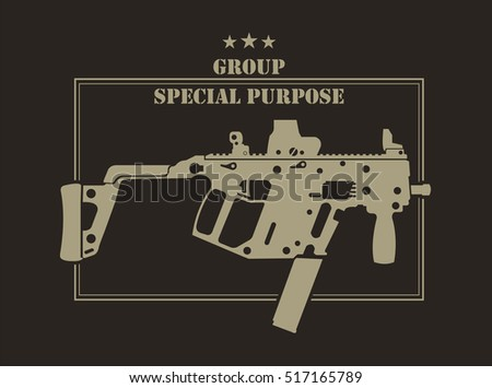 firearm logo template guns