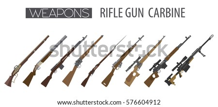firearm set gun  rifle