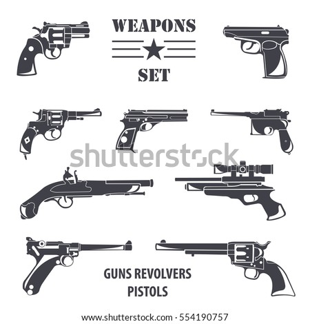 firearm set guns  pistols