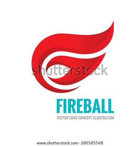 fireball   vector logo template