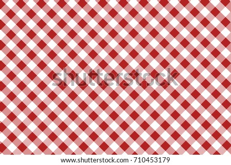 Firebrick Gingham Seamless Pattern. Texture From Rhombus/squares For   Plaid,  Tablecloths,