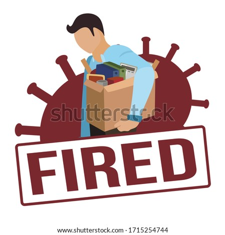 fired and dismissed man red