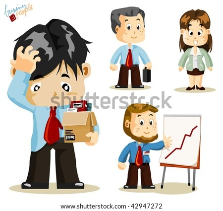 fired business people vector