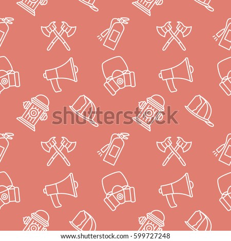 Firefight Seamless pattern vector background