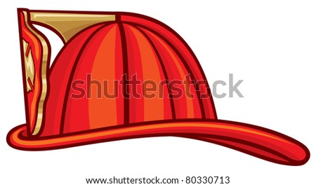 Firefighter Helmet - stock vector