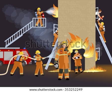 firefighter people design