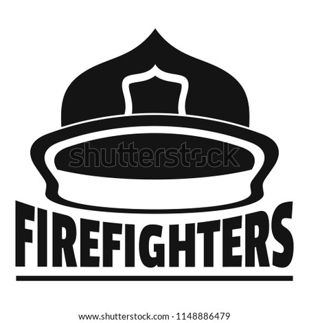 Firefighters helmet logo. Simple illustration of firefighters helmet vector logo for web design isolated on white background