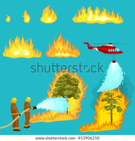 firefighters in protective