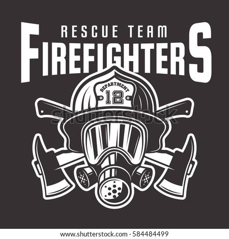 firefighters vector emblem