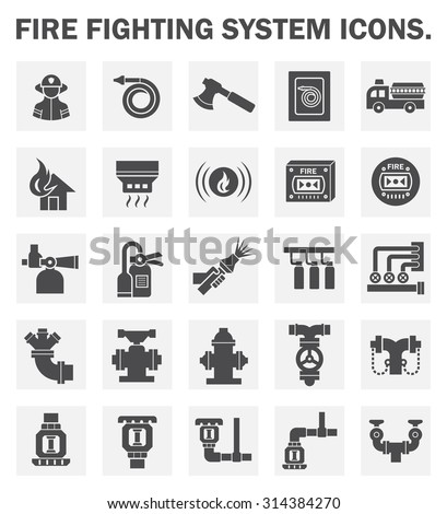 firefighting system icons sets