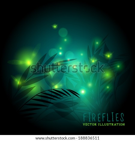 fireflies in the forest at