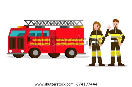 fireman and fire woman on the