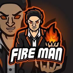 Fireman Esport logo. Suitable for team logo or esport logo and mascot logo, or tshirt design.