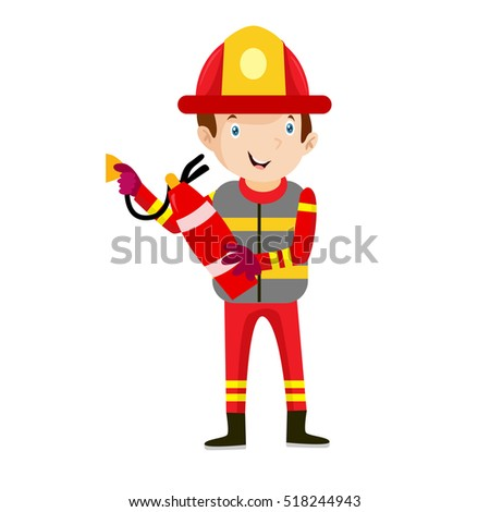 fireman illustration vector