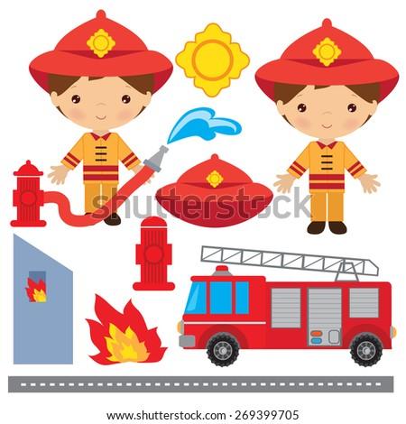 Fireman vector illustration