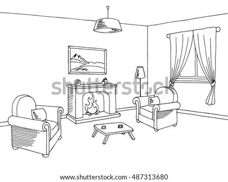 fireplace living room interior