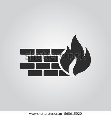 Firewall icon Stock photo ©