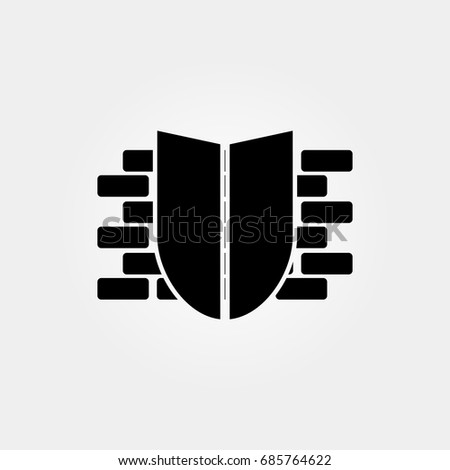 firewall icon vector sign
