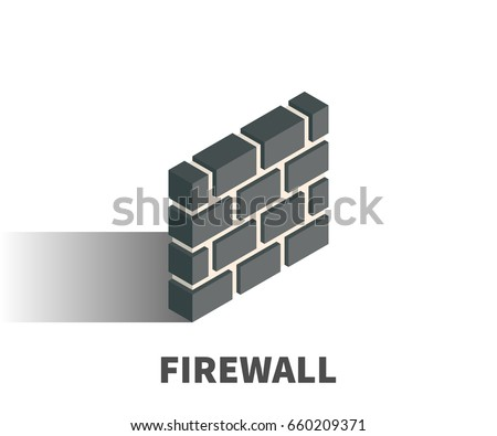 firewall icon  vector symbol in