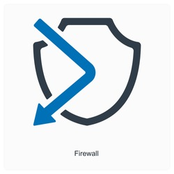 Firewall or barrier icon concept