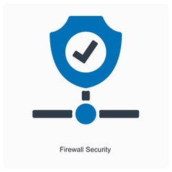 Firewall security or safety icon concept