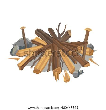 firewood fireplace for bonfire